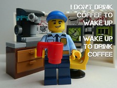 I don't drink coffee to wake up (captain_joe) Tags: toy spielzeug 365toyproject lego minifigure minifig coffee