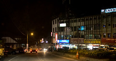 Driving thru Brinchang town at night (stratman² (2 many pix!)) Tags: canonphotography eos7dmarkii ef28mmf18usm brinchang nightscenery iso12800 lowlightphotography