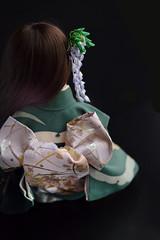 BJD Empress Akashi Wisteria (7) 1:4 size doll (Bright Wish Kanzashi) Tags: tsumami zaiku kanzashi silk dyed handmade tsumamizaiku tsumamikanzashi japanesetechnique flowers handdyed bespoke hanatsukuri цумами канзаши 簪子 instaart supportartists 手作り customorderswelcome etsyseller hairpin オーダーメイド 手染め ハンドメイド 伝統工芸 つまみ細工 簪 コーム ヘアアクセサリー brightwishkanzashi wisteria fuji purple bjd doll hairaccessory dollaccessory souldoll souldollkid 14size 球体関節人形
