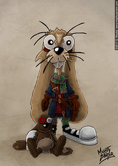 Whiffle and Mr. Jiggles (MightyZandor) Tags: illustration fantasy character design rabbits sword sorcery adventure