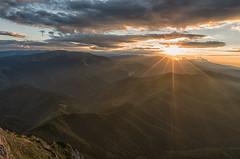 Sunset in Piatra Craiului Mountains (Hattifnattar) Tags: landscape sunset mountains piatracraiului grind romania sunburst pentax da15mm limited