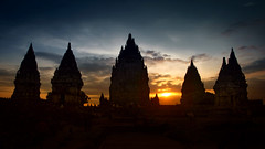 Prambanan Sunset - Java - Indonesia (André Schönherr) Tags: 40d visionhunter prambanan tempel temple hindu sunset indonesia java