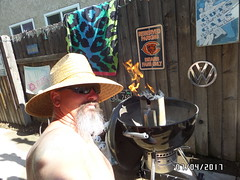 Barbeque Time (cjacobs53) Tags: jacobs jacobsusa clarence cj hat goatee barbeque
