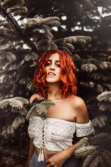 Alter (hollyrosestones) Tags: select red hair tree contrast home change alter interchange