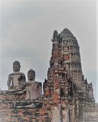 the way to Nirvana (SM Tham) Tags: asia southeastasia thailand ayutthaya watchaiwatthanaram unescoworldheritagesite buddhisttemple buildings ruins buddha statues towers stupa bricks sky outdoors