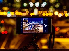 Leading lines and bokeh ((Jessica)) Tags: gorillapod wriststrap phoneloop newengland boston joby bokeh slowshuttercam massachusetts night iphone leadinglines