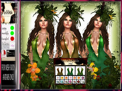 TROPICAL GODDESS MESH DRESS + 3 COLORS HUD 2 (irrISIStible shop) Tags: irrisistible isis secretspy shop second secondlife sl summer slink maitreya belleza hourglass swank event gown dress tropical