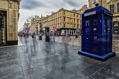 Buchanan Street Police Box (ianmiddleton1) Tags: glasgow ghosts multipleexposures hss sliderssunday