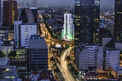 El Moro 2 (Jack Heald) Tags: cdmx mexicocity mexico night nightscape city cityscape rain lights elmoro artdeco building longexposure heald jack nikon tourist travel hilton hiltonhotel reforma