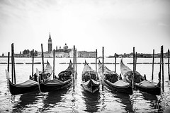 Venice (josvdheuvel) Tags: venetie venice italy italia italie water boot boat dof depthoffield bokeh bw blackandwhite monochrome gondel gondola