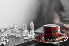 DSC07486.jpg (yazanrahhal1) Tags: chess game person sony a7 samyang 50mm f14 monochrome red coffee cup cigar smoke ash