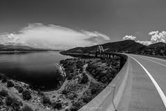 (Joshua Wells Photography) Tags: canoncamera t4i 650d teamcanon bowerlens 8mm fisheye landscape mountains mountain arizona az photography desert cactus cacti water lake rooseveltdam bridge