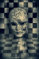 Mask (ZenonasM) Tags: mask face chess board