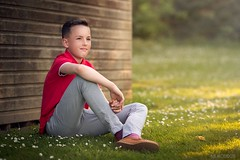 Daydreaming (Aga Wlodarczak) Tags: boy child naturallight outdoor outdoors portrait evening goldenhour sunset canon 6d 135mm 135mmf2