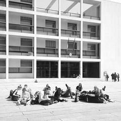 my students in front of terragni's casa del fascio, 1932-36 (seier+seier) Tags: terragni giuseppe giuseppeterragni casa del fascio como italy architecture arkitektur rationalism modernism fascism classicism seierseier creative commons cc