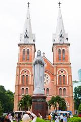 Notre-Dame Cathedral Basilica of Saigon (# My Way #) Tags: saigon notredame cathedral is located downtown ho chi minh city bacillica basilica virgin mary statue vietnam french style beautiful church