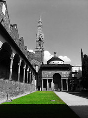 Pazzi-Chapel (TabuuPhoto) Tags: schwarz weis pazzichapel kapelle filippo green church italy