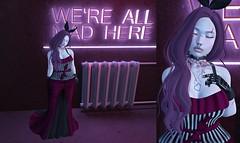 Post #1841 (şąşɧ =^^=) Tags: secondlife fashion blog applier makeup hud mesh top dress ksrit bow bunny bento pink black purple piercing herat necklace choker silver ring scar tattoo punk emo goth gothic