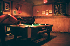 20530035 (fuzzywomack) Tags: 35mmfilm film filmphotography 35mm newyork newyorkcity nyc brooklyn kodakporta800 parkslope kbhbeerhall thekingsbeerhall billiards pool canon canonat1 at1