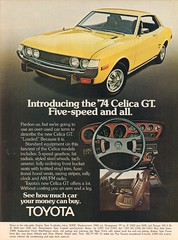 1974 Toyota Celica GT Advertisement Motor Trend November 1973 (SenseiAlan) Tags: 1974 toyota celica gt advertisement motor trend november 1973