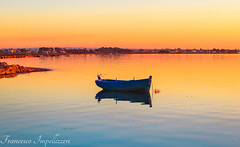 The Boat (Francesco Impellizzeri) Tags: trapani sicilia boat sunset water reflections ngc