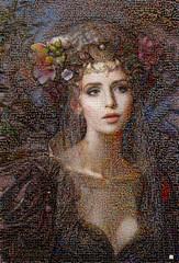 REBECA Mosaico (by zurera) Tags: digital hd art collage retratos portraid zurera people fotomontaje image autoretratos mosaic