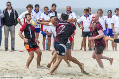 H6G64084 Ameland Invites v Baba Bandits (KevinScott.Org) Tags: kevinscottorg kevinscott rugby rc rfc beachrugby ameland abrf17 2017 vets veterans netherlands