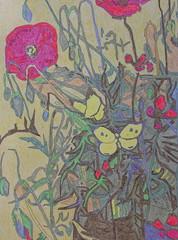 Papillon et coquelicots - Van Gogh - 1889_0 (Luc II) Tags: vangogh papillon coquelicots