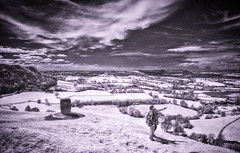 Coaley Peak Viewpoint (Matt Bigwood) Tags: coaleypeak infrared ir nikon d100 landscape abstract monochrome gloucestershire clouds
