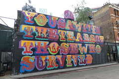 You saw it in the tears of those who survived (duncan) Tags: graffiti shoreditch streetart grenfell grenfelltower beneine eine benokri