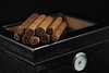 Cigars for a relaxing evening (Chris Cornish Photography) Tags: blackbackground studio aroma black brown cigar cigars class dark dry gentleman glasslid humid humidor leaf rich roll smells smoke smoker stilllife tobacco