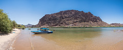 IMG_2997-Pano (exploredesert) Tags: parker arizona river eliminator 207 skier boat sandbar sand bar boating upper colorado california float