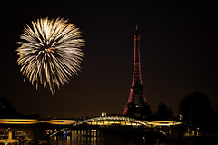 Bastille Day - 14 Juillet 2017 (tagann) Tags: paris feuxdartifices fireworks nuit night toureiffel eiffeltower bridge pont bastilleday fêtenationale 14juillet
