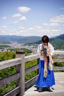 Junko-san and Kyoto backdrop