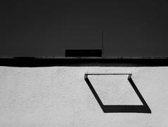 wall & shadow (christikren) Tags: wall shadow schwarzweiss sw bw building blackandwhite christikren monochrome sky wand contrast minimalistic simple abstract creative