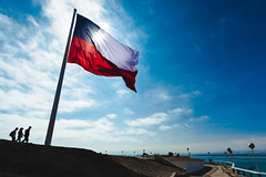 Bandera Chile en Morro de Arica - Chile (Rodrigo LLopis G.) Tags: arica chile lands morro bandera flag blue sky red nikon d7100 nikkor 1224mm