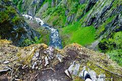 Gorge-ous (joerimages) Tags: gorge canyon edge cliff shoe moss nike sneaker rock river stream rapids stone height drop danger norway vøringfossen hordaland eidfjord nature trees flora landscape