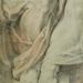 RUBENS (d'Après BUONARROTI Michelangelo) - La Sibylle de Cumes, Chapelle Sixtine (drawing, dessin, disegno-Louvre INV20226) - Detail 49