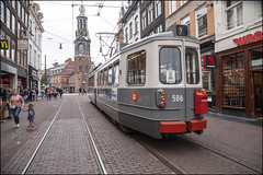 GVB (EMA) 2G 586 (Chris 1971) Tags: gvb ema 586 2g düwag werkspoor amsterdam tram streetcar munttoren muntplein