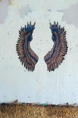 Alas (Daquella manera) Tags: washington dc georgetown canal grafifiti pintada street art arte callejero sl001451dc wings alas paste up poster