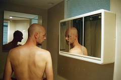(martine.es) Tags: analog analogue minolta love people portrait film 35mm filmphotography mirror boy nude man male mirrored night bathroom