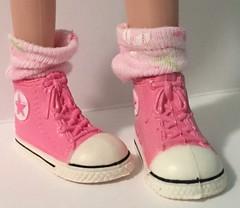 Pink Daisy Short Socks...For Blythe...
