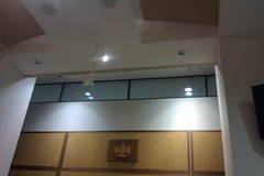 Serenity Acoustic Ceiling Panels - Courtroom