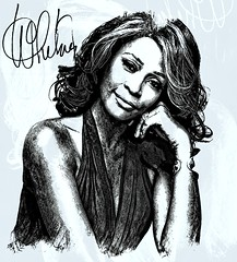 Whitney Houston (Bob Smerecki) Tags: smackman snapnpiks robert bob smerecki sports art digital artwork paintings illustrations graphics oils pastels pencil sketchings drawings virtual painter 6 watercolors smart photo editor colorization akvis sketch drawing concept designs gmx photopainter 28 draw hollywood walk fame high contrast images movie stars signatures autographs portraits people celebrities vintage today metamorphasis 002 abstract melting canvas baseball cards picture collage jixipix fauvism infrared photography colors