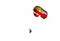 [ Colori di un sogno per due - The colors of a dream for two ] DSC_0816.R2.jinkoll (jinkoll) Tags: conceptual minimal colors parachute kite parasailing silhouette people couple parascending parakiting sport sit sitting seated