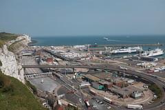 Eastern Docks, Dover. (geedub611) Tags: englishchannel terminal whitecliffofdover chalk cliff po ferry a2 road truck lorry ship sea deck pier concrete viaduct bridge harbour docks dover