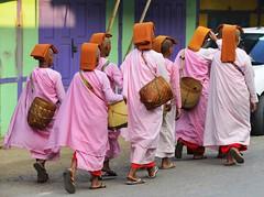 Nuns (@Mark_Eveleigh) Tags: asia asian burma burmese east indochina myanmar south kayah state loikaw buddhist nun pink