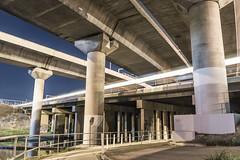 (Murdoch80) Tags: melbourne bridge concrete long exposure longexposure melb trains traintracks concretebridge freeway underpass overpass