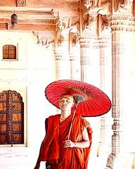 ... (a.b.h.i...) Tags: jaipur india monk umbrella