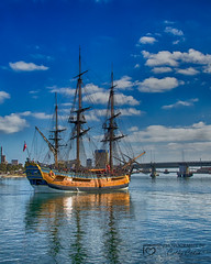 Set Sail (Cathy Cates (aka CrafteeCC)) Tags: boatsships endeavour oneandall portadelaide sailing